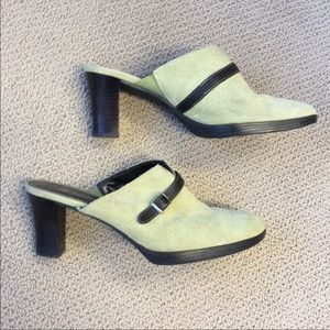 St Johns Bay Suede Mules / Clogs